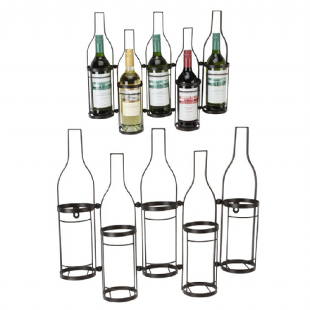 Juliana Home Living Wall Art 5 Wine Bottle Holder